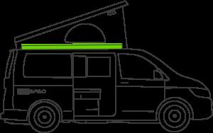 Dachbett Unterfederung für VW T57T6